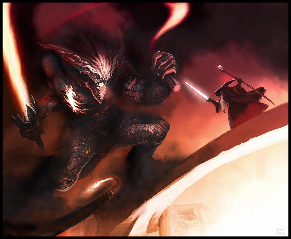 Gandalf X Balrog by Noe-Leyva