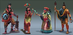 characters cuatro