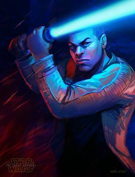 Star Wars Force Awakens Finn Fan Art