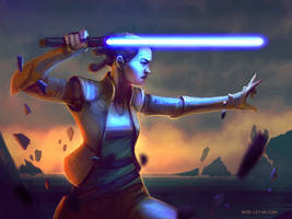 Star Wars Rey the last jedi? May the 4th by Noe-Leyva