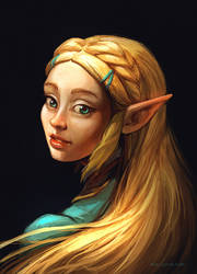 Zelda Portrait by Noe-Leyva
