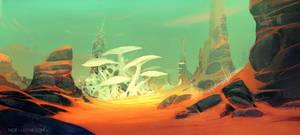 Alien Desert by Noe-Leyva