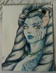 Final Fantasy X - Shiva portrait art by GluumeeArtz