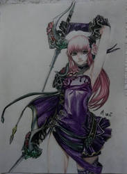Aion Shadow Wing Elyos Figurine Drawing