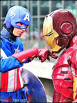 Iron Man and Captain America (Avengers) Cosplay