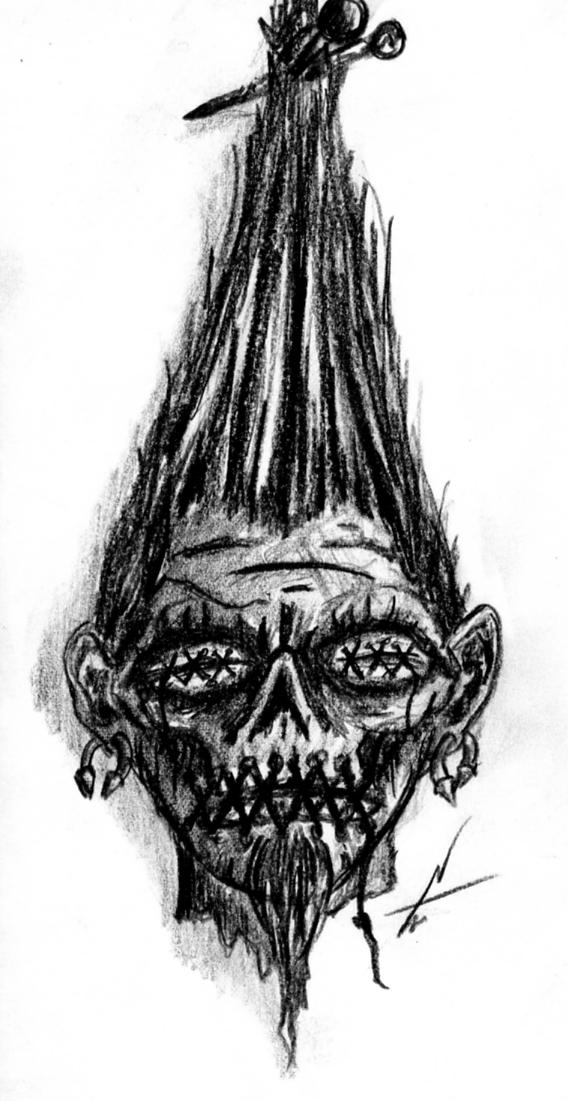 shrunken head tattoo design by nelsontwaters on deviantart. Black Bedroom Furniture Sets. Home Design Ideas