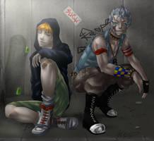 Grimmjow and Ichigo. Street Fighter by LittleMeroko-chan