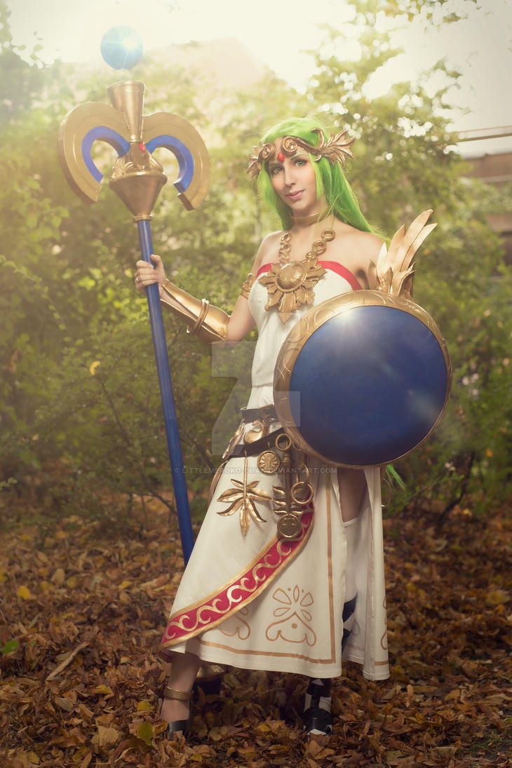 Lady Palutena. May the light shine down on you by LittleMeroko-chan