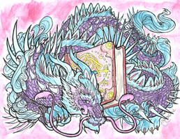 Bookwyrm lineart by rachaelm5, colors by moi