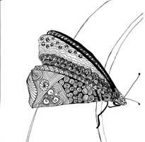 Doodled Butterfly