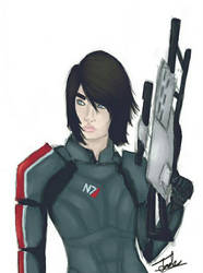 Commander Andy Shepard  by M-a-b-a-r-i