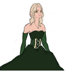 Aedra In A Fancy Dress by M-a-b-a-r-i