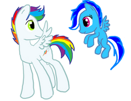 Kids of rainbow and soarin by sweetchiomlp