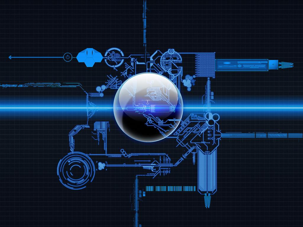 futuristic machine graphic overlay - HD1600×1200