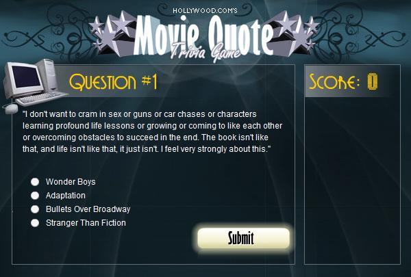 Movie Quote Trivia Amazing Movie Quote Trivia Game By Aerandur On DeviantArt
