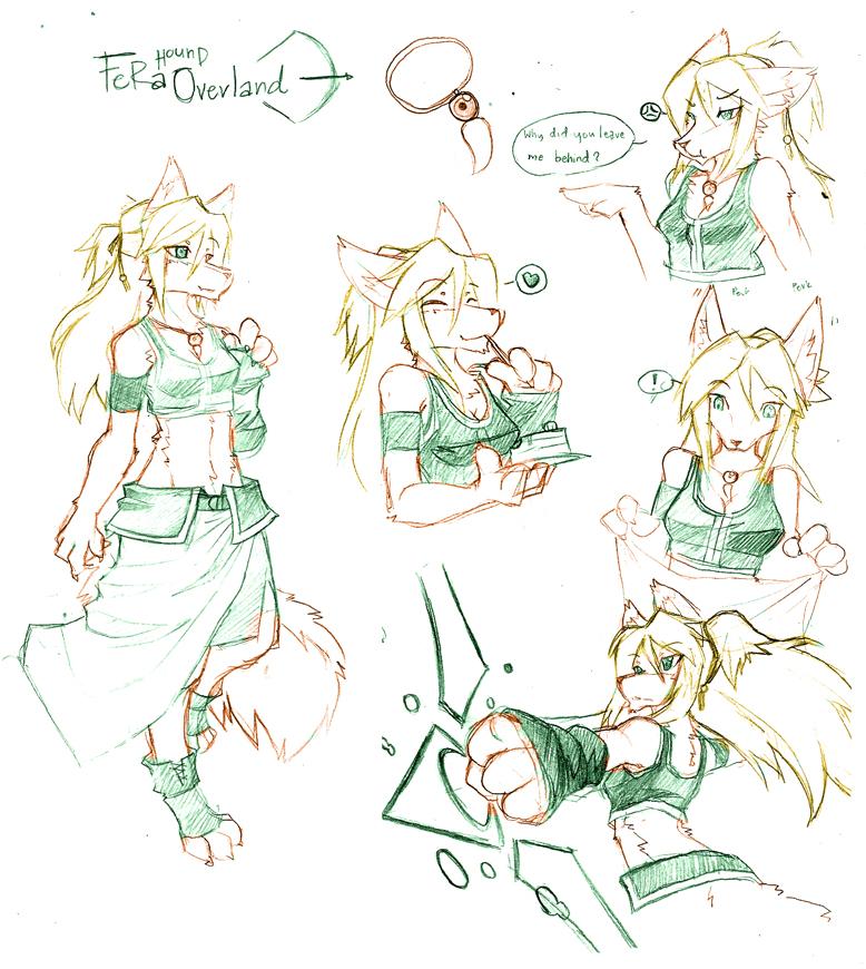 [Sketch] Fera Super Sketchy Charsheet by Lunarez