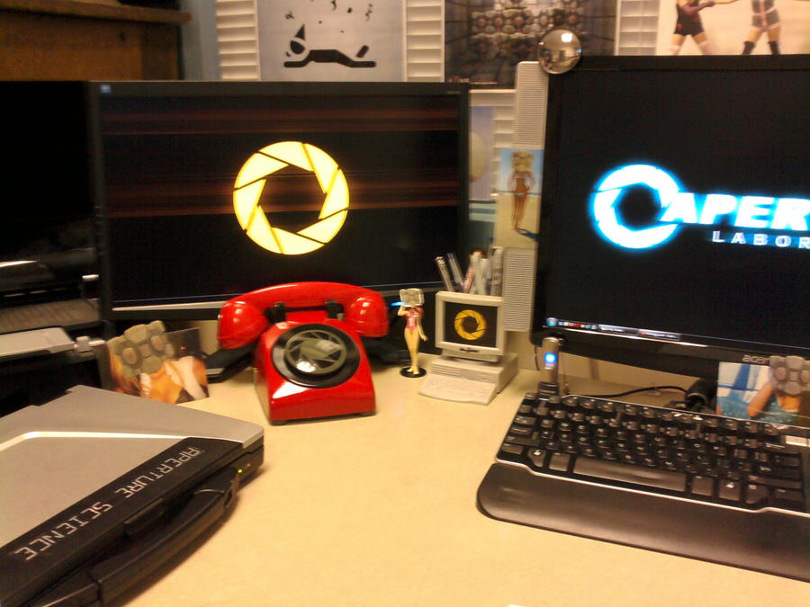 The other end of the Aperture Science Red Phone by ChrisInVT