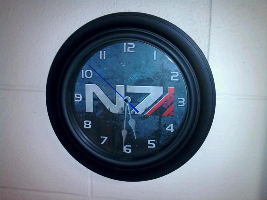 Mass Effect N7 Clock by ChrisInVT