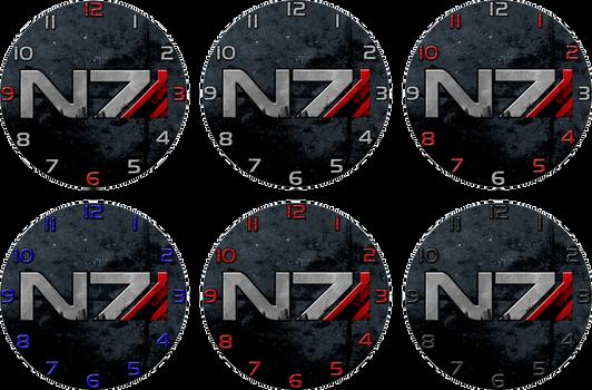 Mass Effect N7 Clock Designs by ChrisInVT