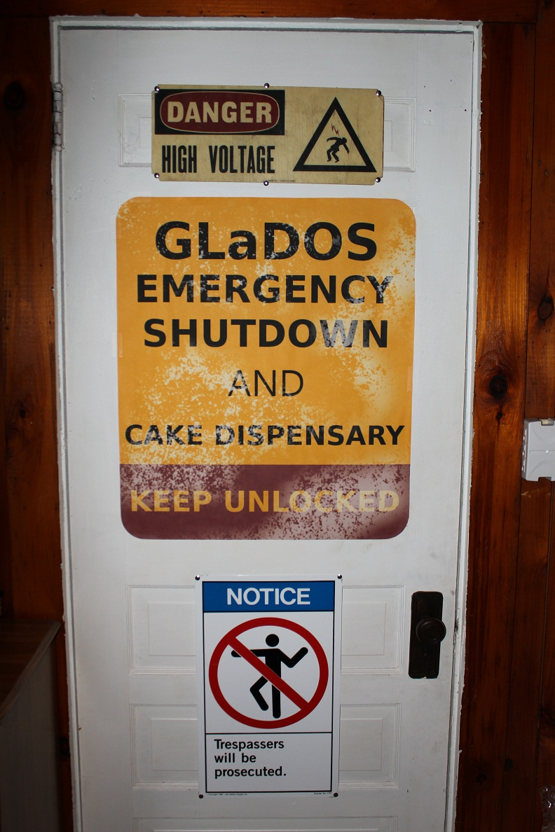 GLaDOS Emergency Shutdown and Cake Dispensary by ChrisInVT