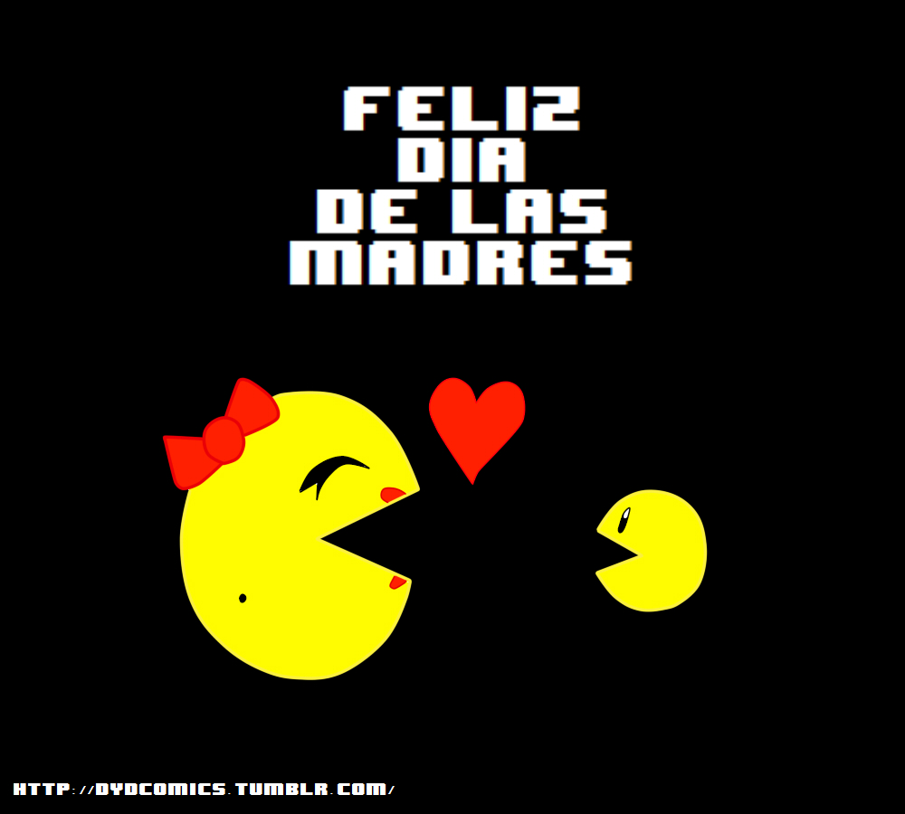 Feliz dia de las madres -Ms Pac-man- by animetomodachi
