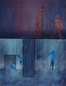 E4 Caught in red rain