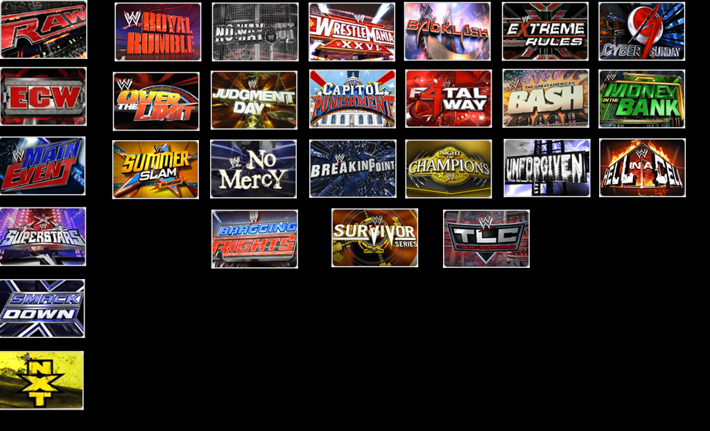 WWE CUSTOM BRAND SHOW AND PAY-PER-VIEW SCHEDULE By