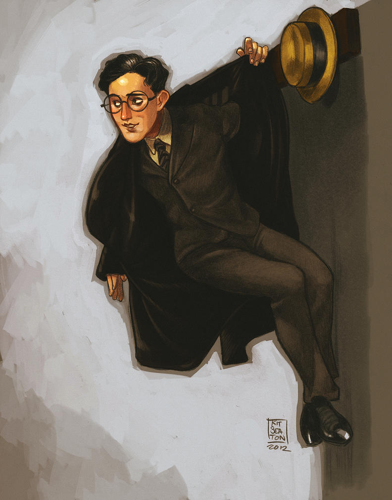 Harold Lloyd in a Hanging Coat by drawlequin