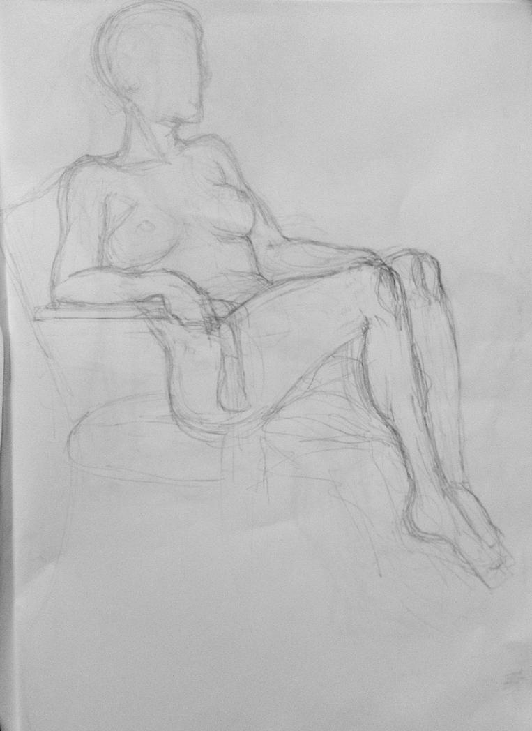 Figure Drawing: ~15 min study by undercanvaswraps
