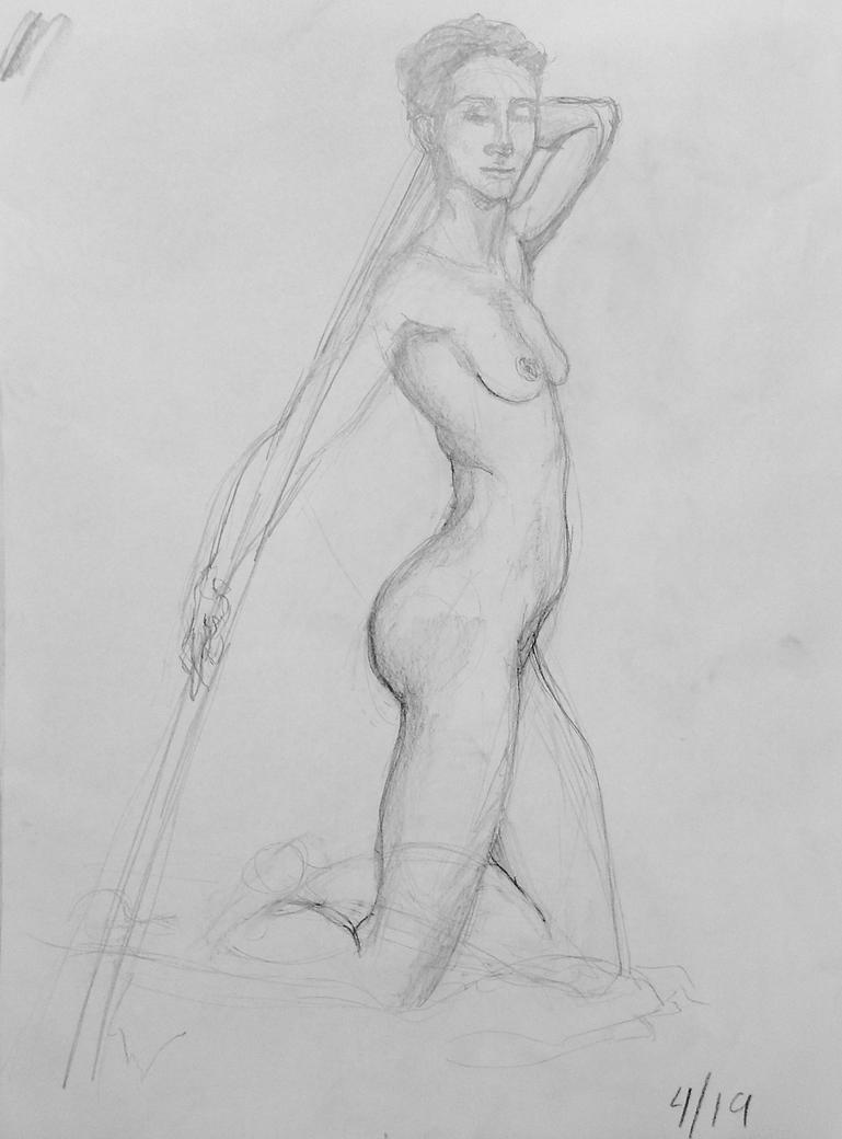 Figure Drawing: 30 min study 4/19/16 by undercanvaswraps