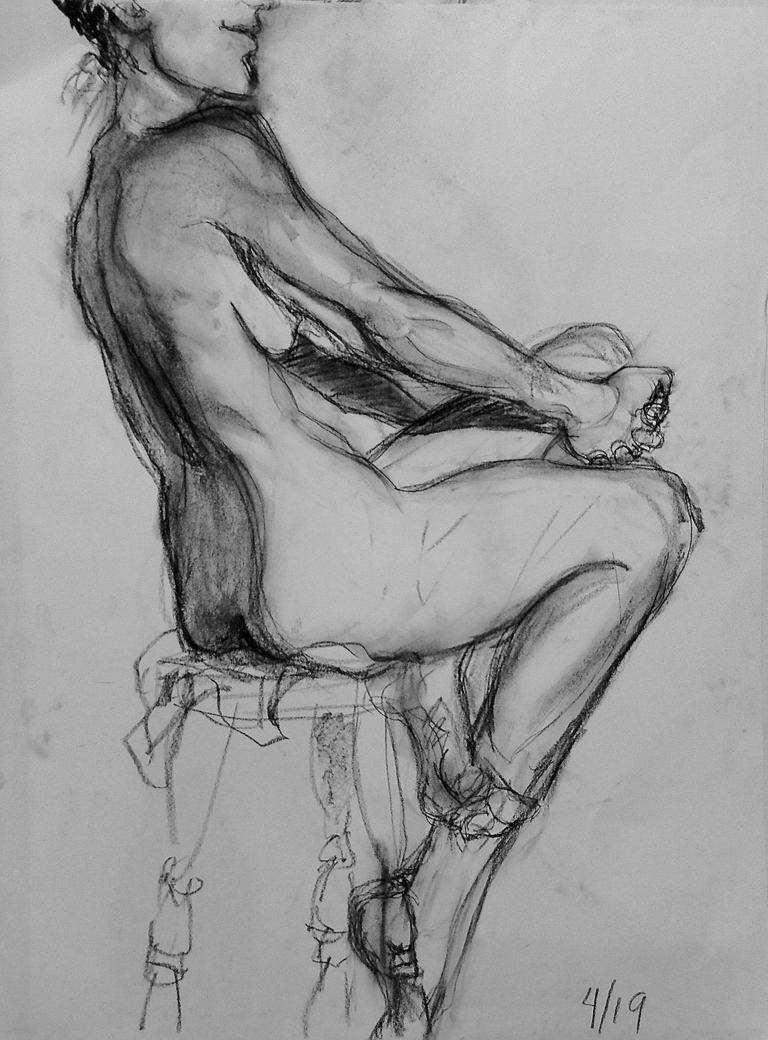 Figure Drawing: 30 min study 4/19/16 (2) by undercanvaswraps