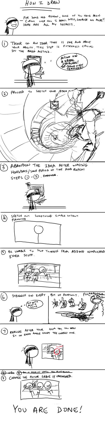 How I Draw - The Bassa Method by Bassara