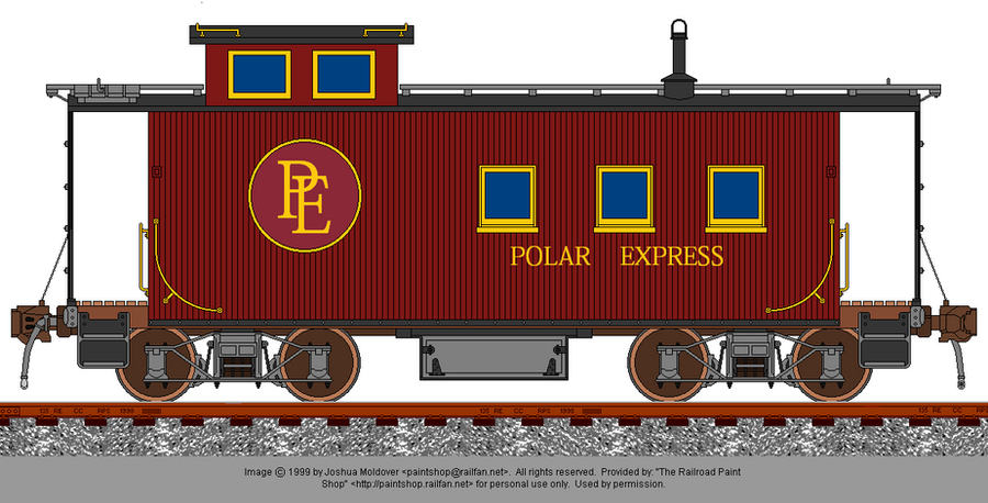 A caboose for the polar express by railroadnutjob on for Express template engines