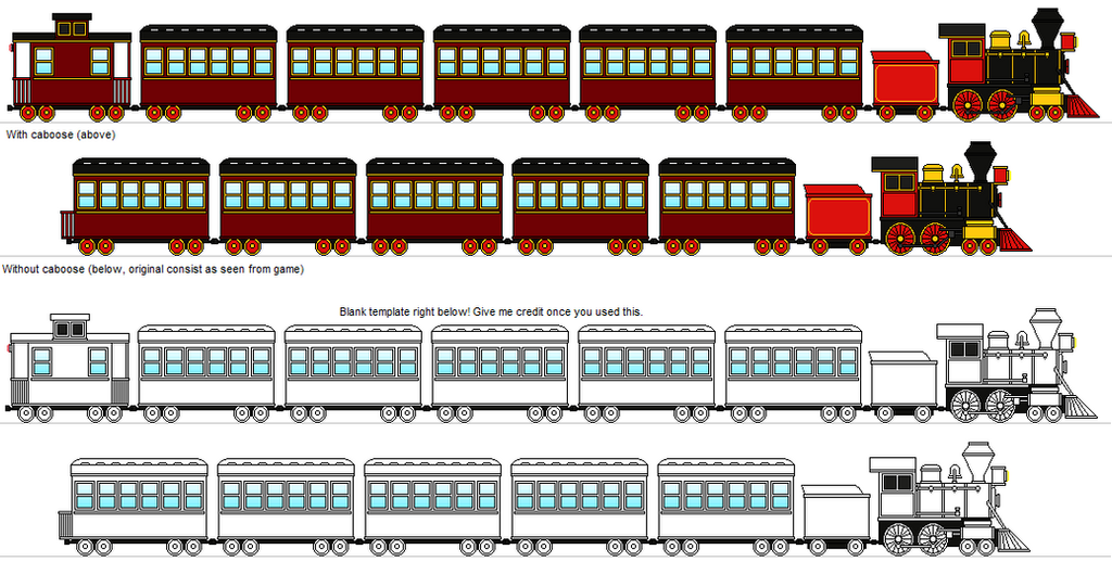 K d express train with template by railroadnutjob on for Express template engines