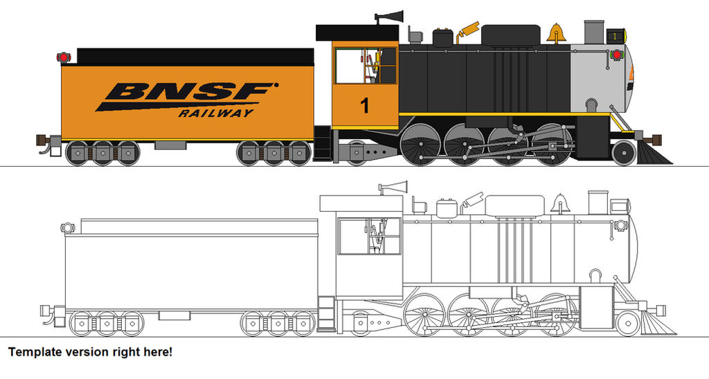 BNSF Mikado no  1 - NOW WITH TEMPLATE by RailroadNutjob on DeviantArt