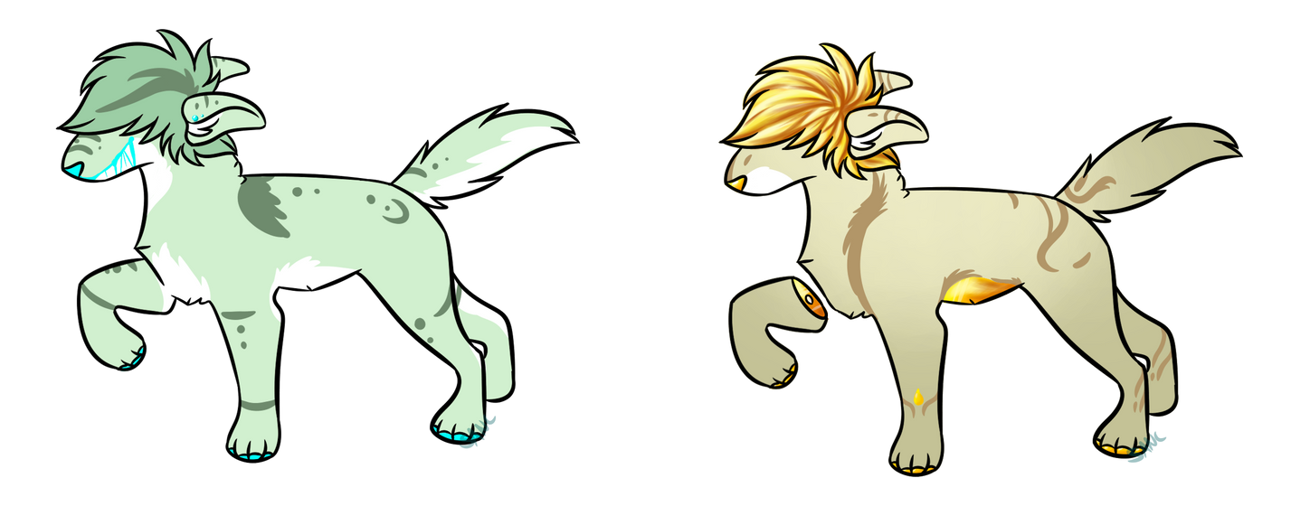 Dog Adopts by Sanctumwolves