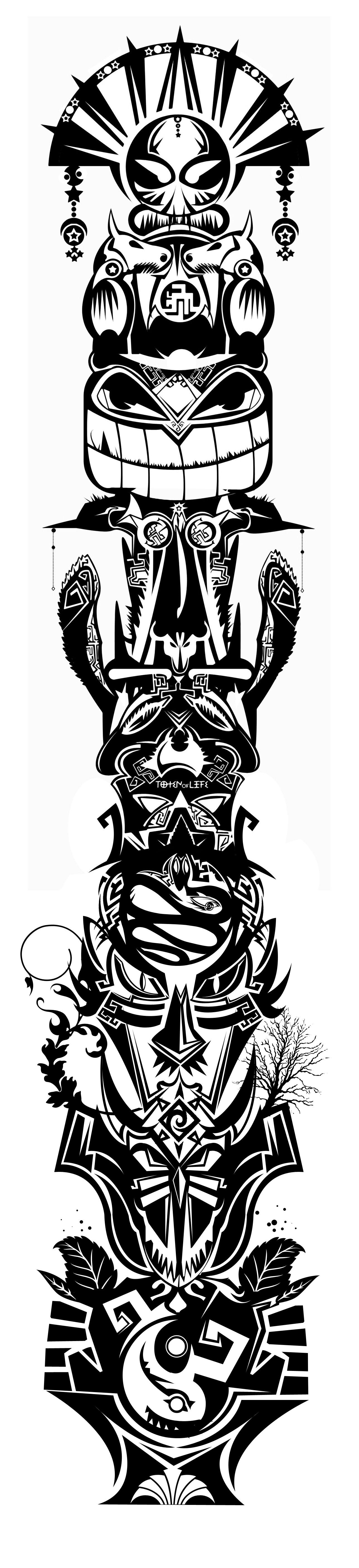 Тотемные татуировки животных