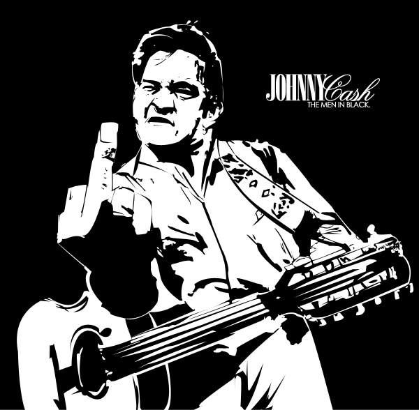 Johnny Cash Vector Johnny Cash - The Men In Black