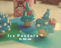 Blue Cupcake Charms II by Ice-Pandora