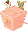 Kawaii Noodle Box Pink + Plush by Ice-Pandora