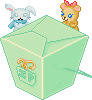 Kawaii Noodle Box Mint + Plush by Ice-Pandora