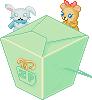 Kawaii Noodle Box Mint + Plush by Ice-Pandora