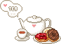 Tea set donut by Ice-Pandora