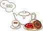 Tea set donut by Ice-Pandora