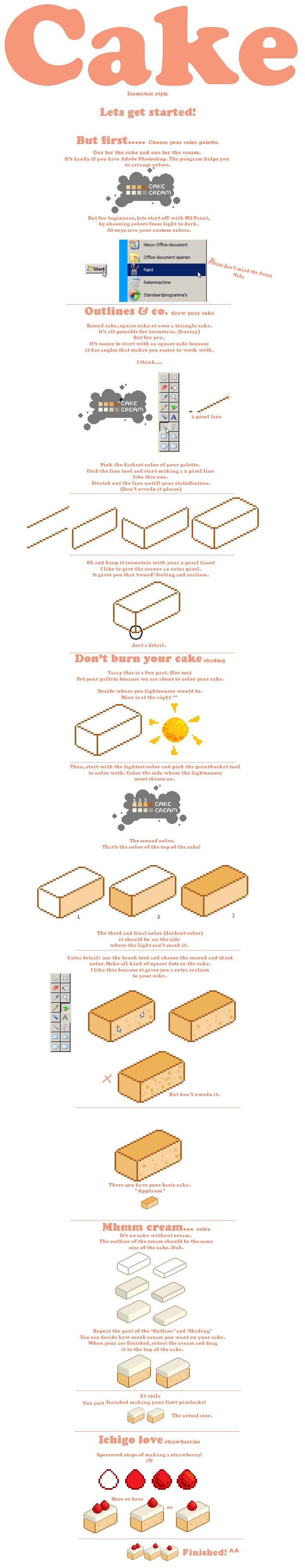 Pixel cake tutorial :'D by Ice-Pandora