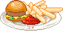 Dinerfood: Hamburger + Jumbofries by Ice-Pandora