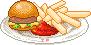 Dinerfood: Hamburger + Jumbofries by Ice-Pandora