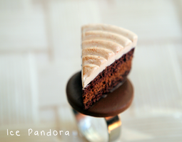 Miniature mocha buttercream cake by Ice-Pandora