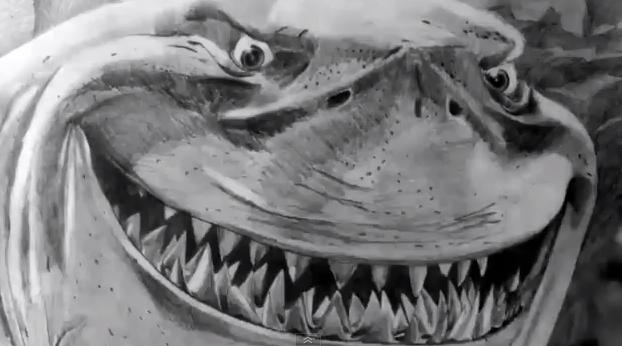 BRUCE from Finding Nemo by Speed Drawing Italia by Speeddrawingitalia