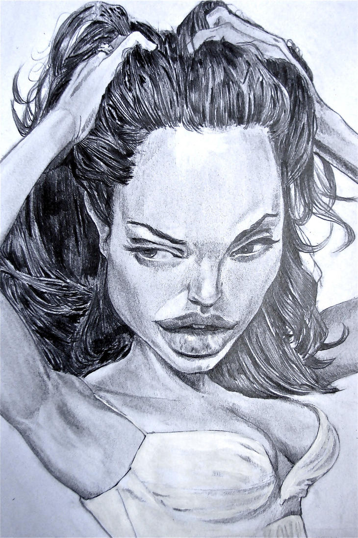 Angelina Jolie Caricature  Speed Drawing Italia By Speeddrawingitalia